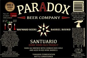 Paradox Beer Company Inc Santuario