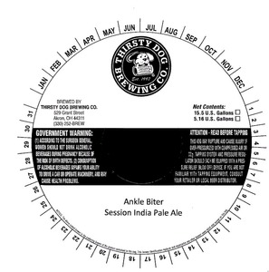 Thirsty Dog Brewing Co Ankle Biter
