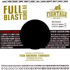 Fish Tale Ales Full Blast Blonde Ale