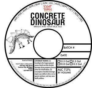 Right Brain Brewery Concrete Dinosaur