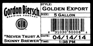 Gordon Biersch Brewing Company Golden Export