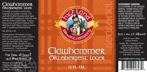 Highland Brewing Co. Clawhammer Oktoberfest