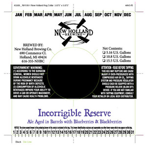 New Holland Brewing Company Incorrigible Reserve