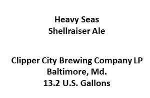 Heavy Seas Shellraiser Ale