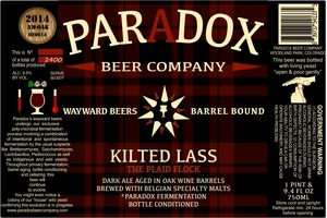 Paradox Beer Company Inc Kilted Lass