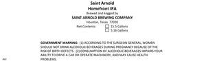 Saint Arnold Brewing Company Homefront IPA