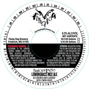 Flying Dog Lemongrass Rice Ale