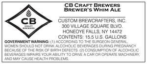 Cb Craft Brewers Brewer's Whim