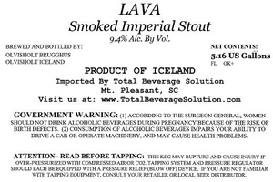 Lava Smoked Imperial Stout