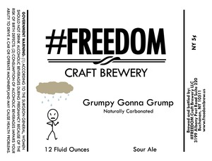 #freedom Craft Brewery Grumpy Gonna Grump