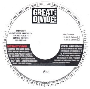 Great Divide Brewing Company Ale