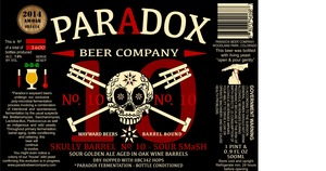 Paradox Beer Company Skully Barrel No.10- Sour Smash
