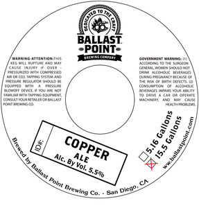Ballast Point Brewing Company Copper