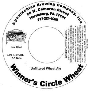 Appalachian Brewing Co Winner's Circle Wheat