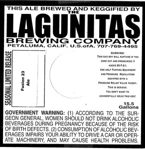 The Lagunitas Brewing Company Fusion 23