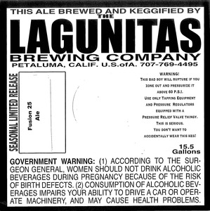 The Lagunitas Brewing Company Fusion 25