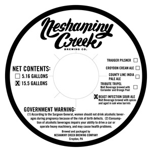Neshaminy Creek Brewing Beast Infection Sour Ale