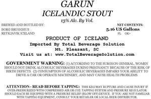 Garun Icelandic Stout