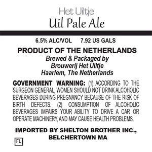 Het Uiltje Uil Pale Ale June 2014