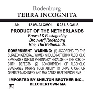 Brouwerij Rodenburg Terra Incognita