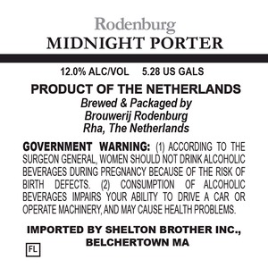 Brouwerij Rodenburg Midnight Porter