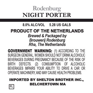 Brouwerij Rodenburg Night Porter