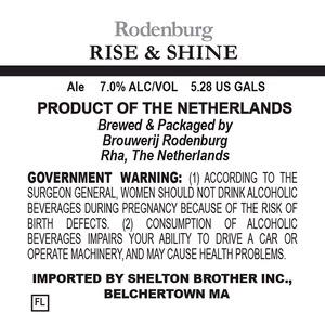 Brouwerij Rodenburg Rise & Shine