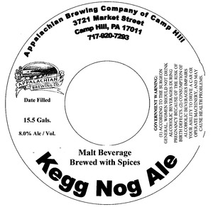 Appalachian Brewing Co Kegg Nog