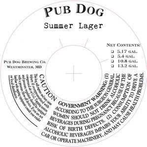 Pub Dog Summer Lager
