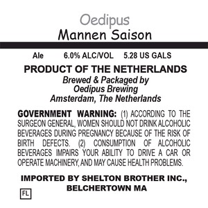 Oedipus Brewing Mannen Saison