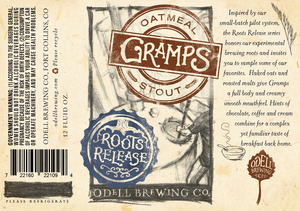 Odell Brewing Company Gramps