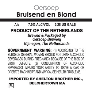 Oersoep Brouwerij Bruisend En Blond