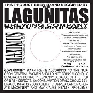 The Lagunitas Brewing Company Maxiums IPA