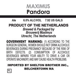 Brouwerij Maximus Pandora