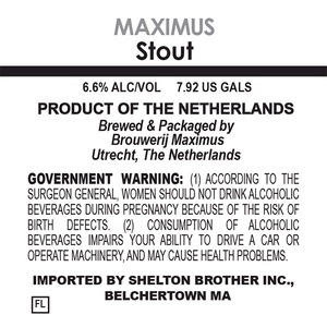 Brouwerij Maximus Stout