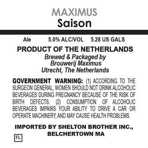 Brouwerij Maximus Saison