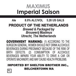 Brouwerij Maximus Imperial Saison