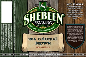 Shebeen Brewing Company 1814 Colonial Brown