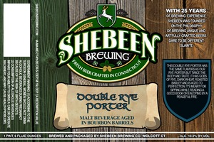 Shebeen Brewing Company Double Rye Porter