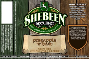 Shebeen Brewing Company Pineapple Wheat