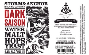 Storm & Anchor Dark Saison