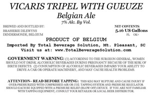 """vicvaris Tripel With Gueuze June 2014"