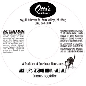 Otto's Pub And Brewery Arthur's Session India Pale Ale