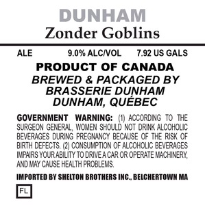 Brasserie Dunham Zonder Goblins