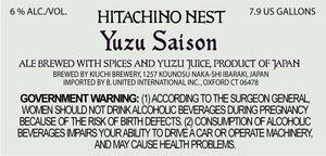 Hitachino Nest Yuzu Saison