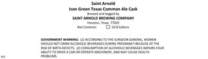 Saint Arnold Brewing Company Icon Green Texas Common