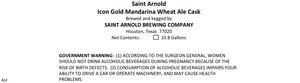 Saint Arnold Brewing Company Icon Gold Mandarina Wheat