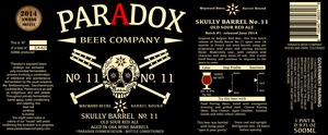 Paradox Beer Company Skully Barrel No.11
