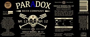 Paradox Beer Company Skully Barrel No.12