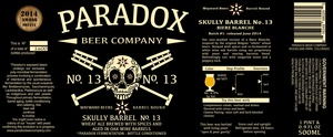 Paradox Beer Company Skully Barrel No. 13